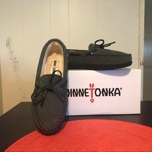Minnetonka Moccasins Suede Lined Hardsole Loafers